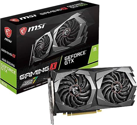 MSI Nvidia GeForce GTX 1650 Gaming X 4G - Tarjeta gráfica (4 GB ...