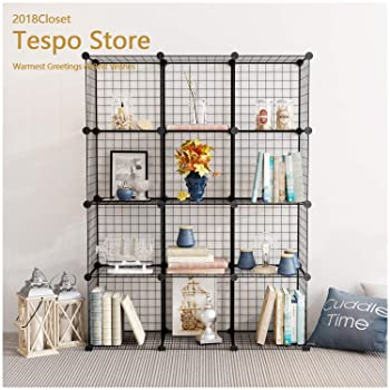 Tespo Metal Wire Bookshelf
