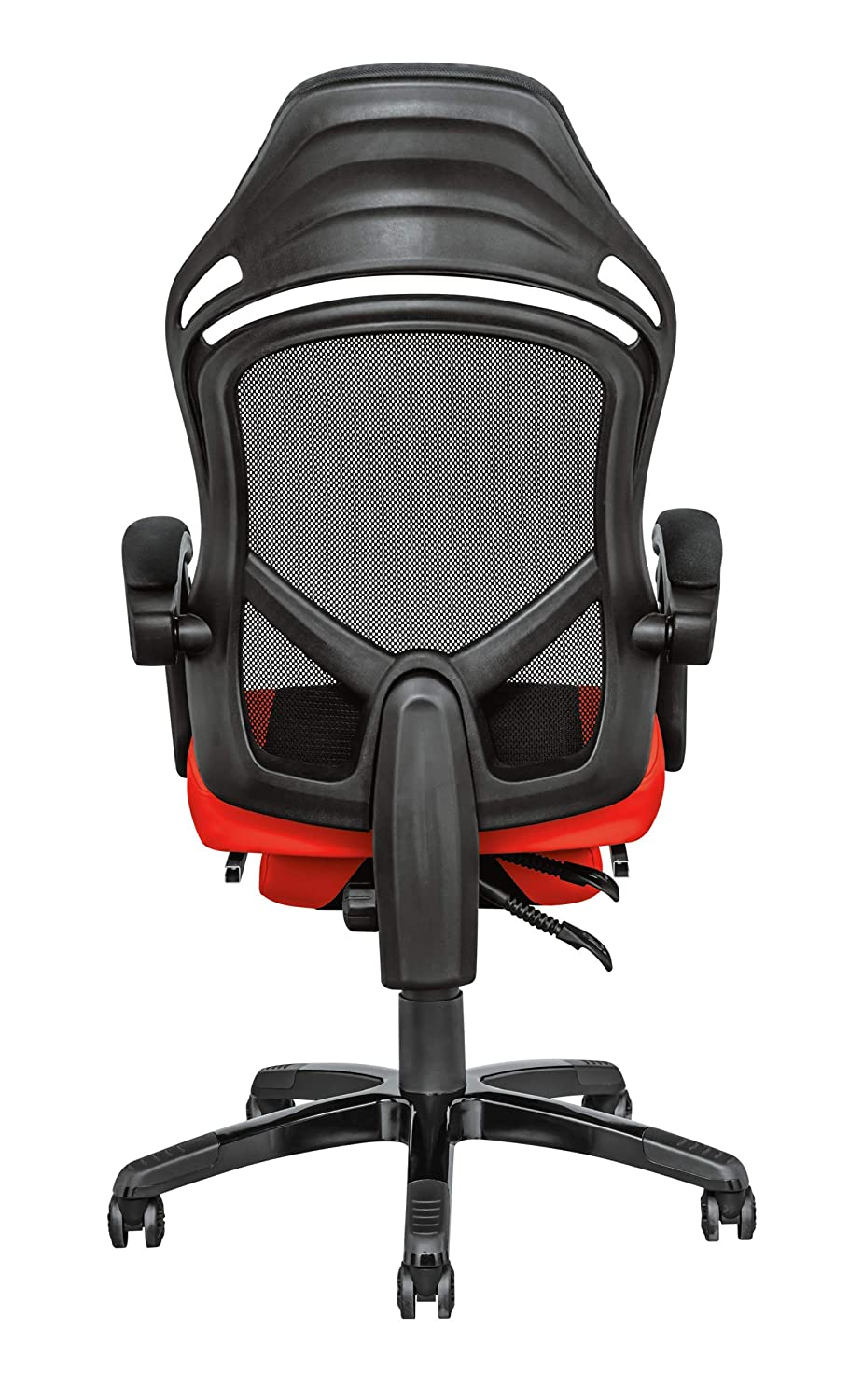 Trust Gaming GXT 706 Rona - Silla Gaming con reposapiés, Color Negro y Rojo