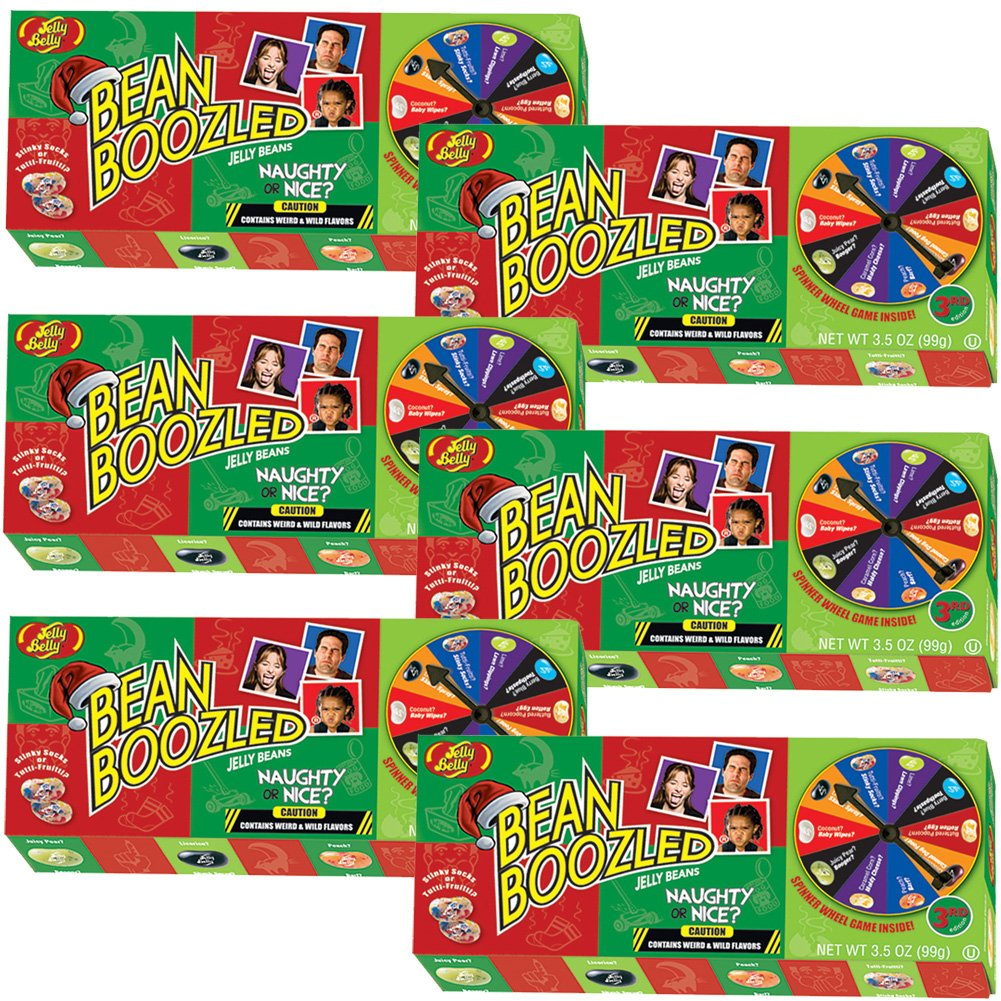 (Set/6) Jelly Belly Bean Boozled Naughty Or Nice Fun Christmas Spinner Game by Jelly Belly