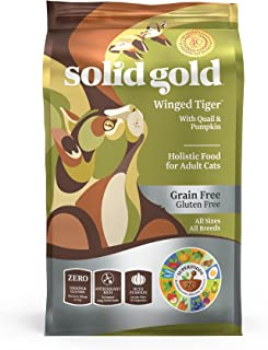 product image for Solid Gold - Winged Tiger - Real Quail & Pumpkin - Grain-Free & Gluten-Free - Holistic Sensitive Stomach dry cat food for Adult & Senior Cats