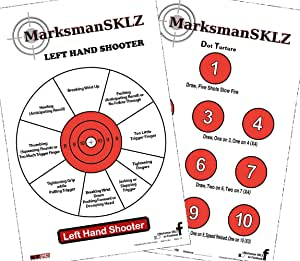 """MarksmanSKLZ Diagnostic and Training Pistol Shooting Targets (Pack of 20 + 5 Bonus Drill Targets)   High Visibility 11"""" X 17""""   Error Analysis and Correction Paper Targets"""