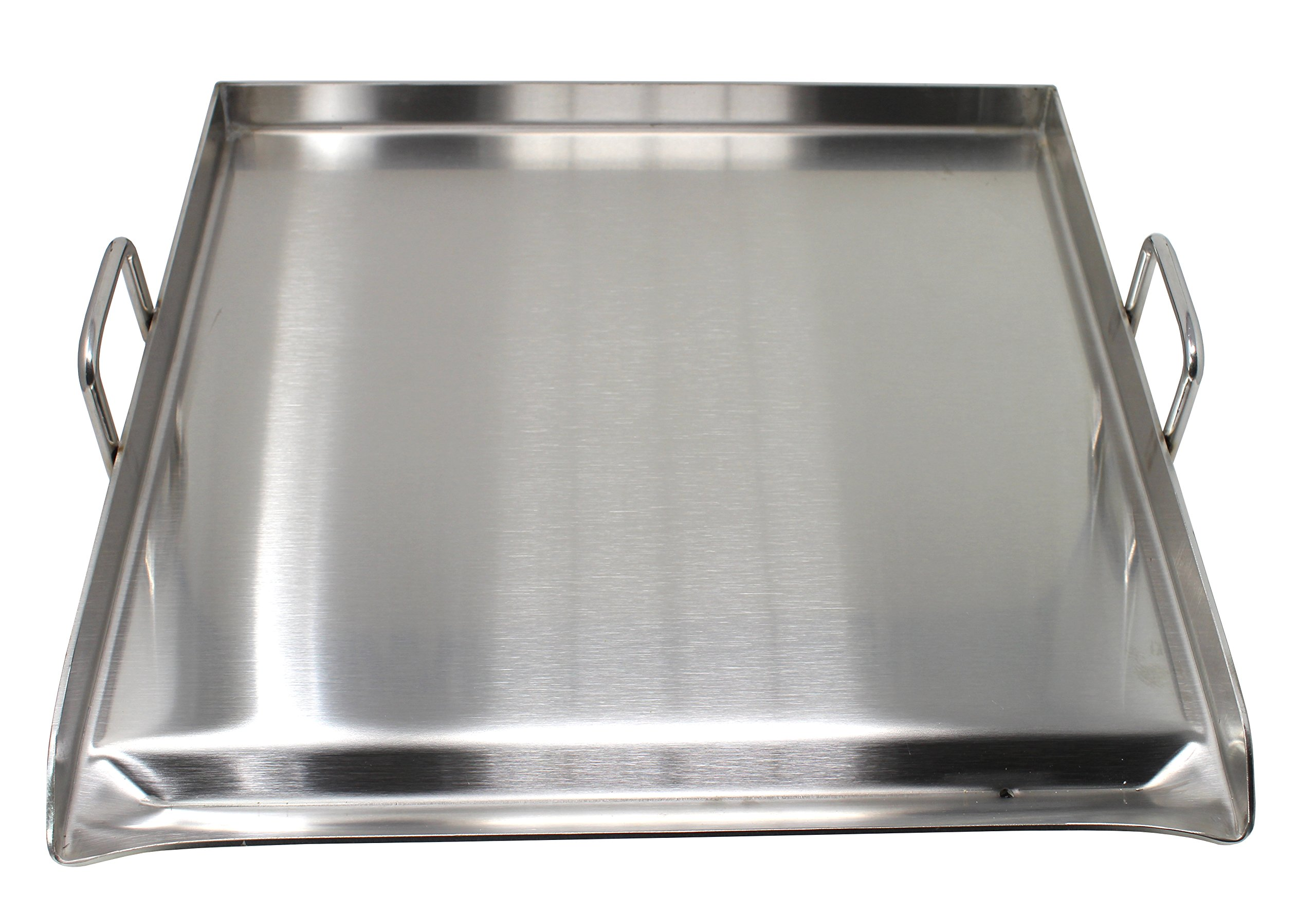 CONCORD Stainless Steel Square Universal Griddle for BBQ. Dimensions 20'' x 20''
