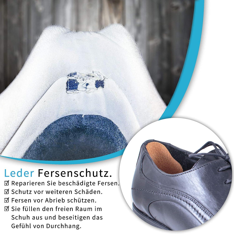 Omniskus 4 Paare Leder Fersenschutz Fersenhalter Fersenkissen Fersenpolster Reparatur Schuhe