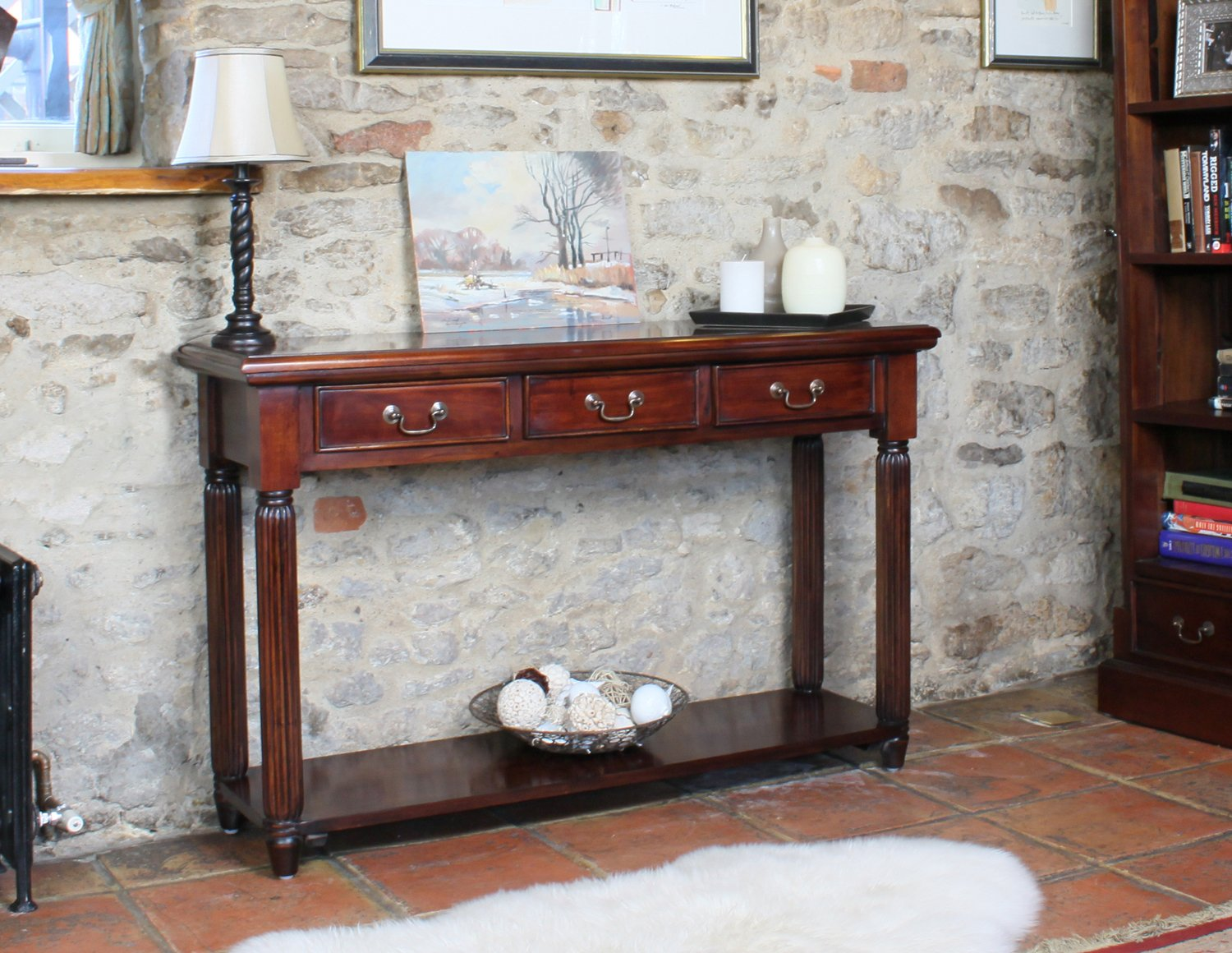 mahogany hall table. baumhaus la roque console / hall table (with drawers) - hand crafted solid mahogany: amazon.co.uk: kitchen \u0026 home mahogany