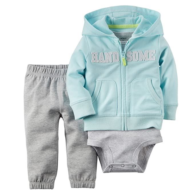 Amazon.com: Carters bebé ropa Outfit Boys 3 piezas chaqueta ...
