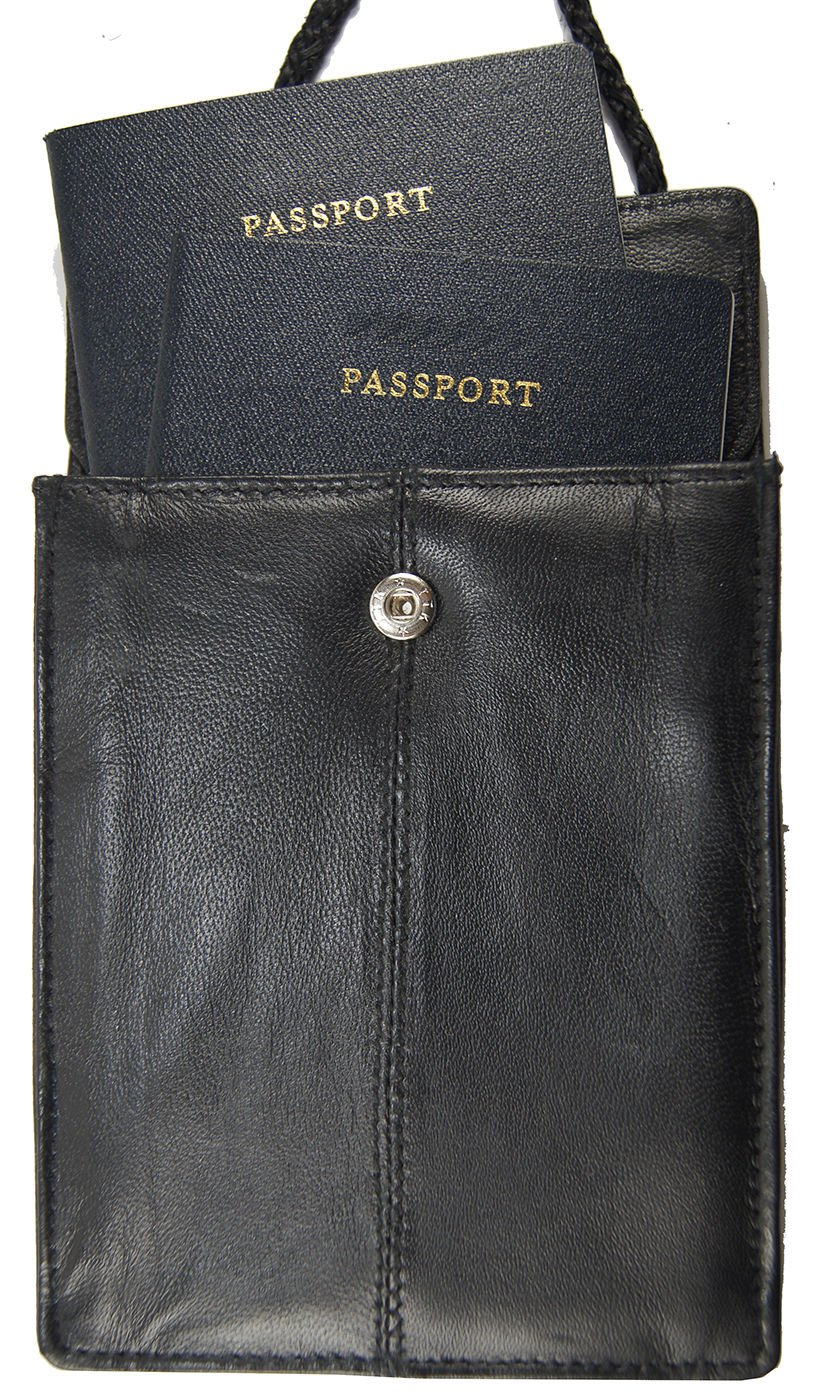 Rfid Blocking Leather Travel Passport Wallet Holder Neck Pouch Safe Bag by Wallet (Image #2)