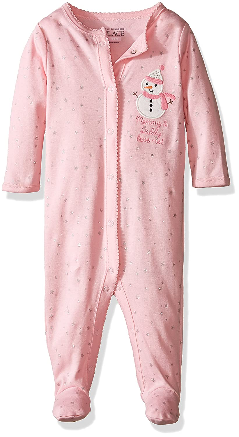 The Childrens Place Baby-Girls Sweet Lil Sleep n Play Romper