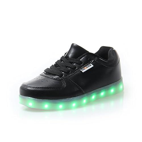 70b2b8ca1826c DoGeek Led Schuhe Mädchen Damen 7 Farbe USB Aufladen Leuchtend Sportschuhe  Led Kinder Farbwechsel Sneaker Turnschuhe