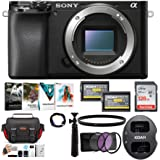 Sony Alpha a6100 APS-C Mirrorless Interchangeable-Lens Camera (Body Only) Bundle (9 Items)