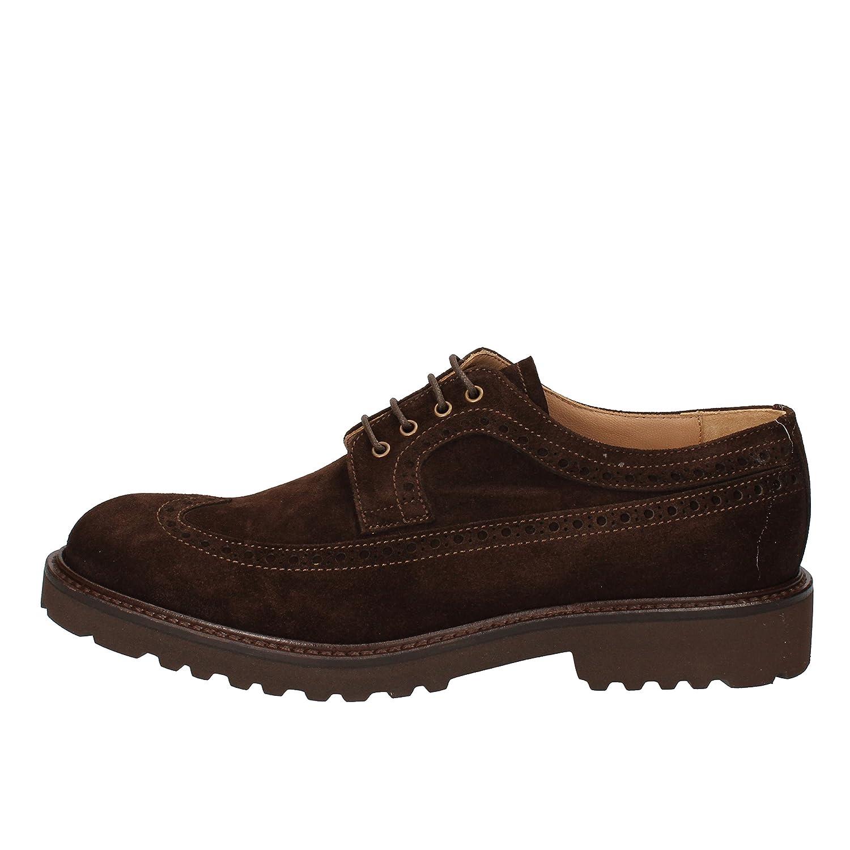 EVOLUZION Elegante Schuhe Herren Wildleder braun