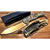 Spring Assisted Pocket Knife by Super Knife: Sharp and Strong Stainless Steel Blade