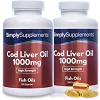 Cod Liver Oil 1000mg | Rich in Omega 3 Fatty Acids | 360 Capsules = Up to Year Supply | Manufactured in The UK