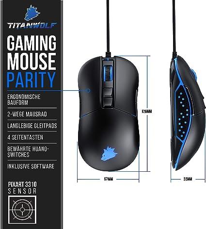 Titanwolf Gaming Maus Für Rechts Und Linkshänder Computer Zubehör