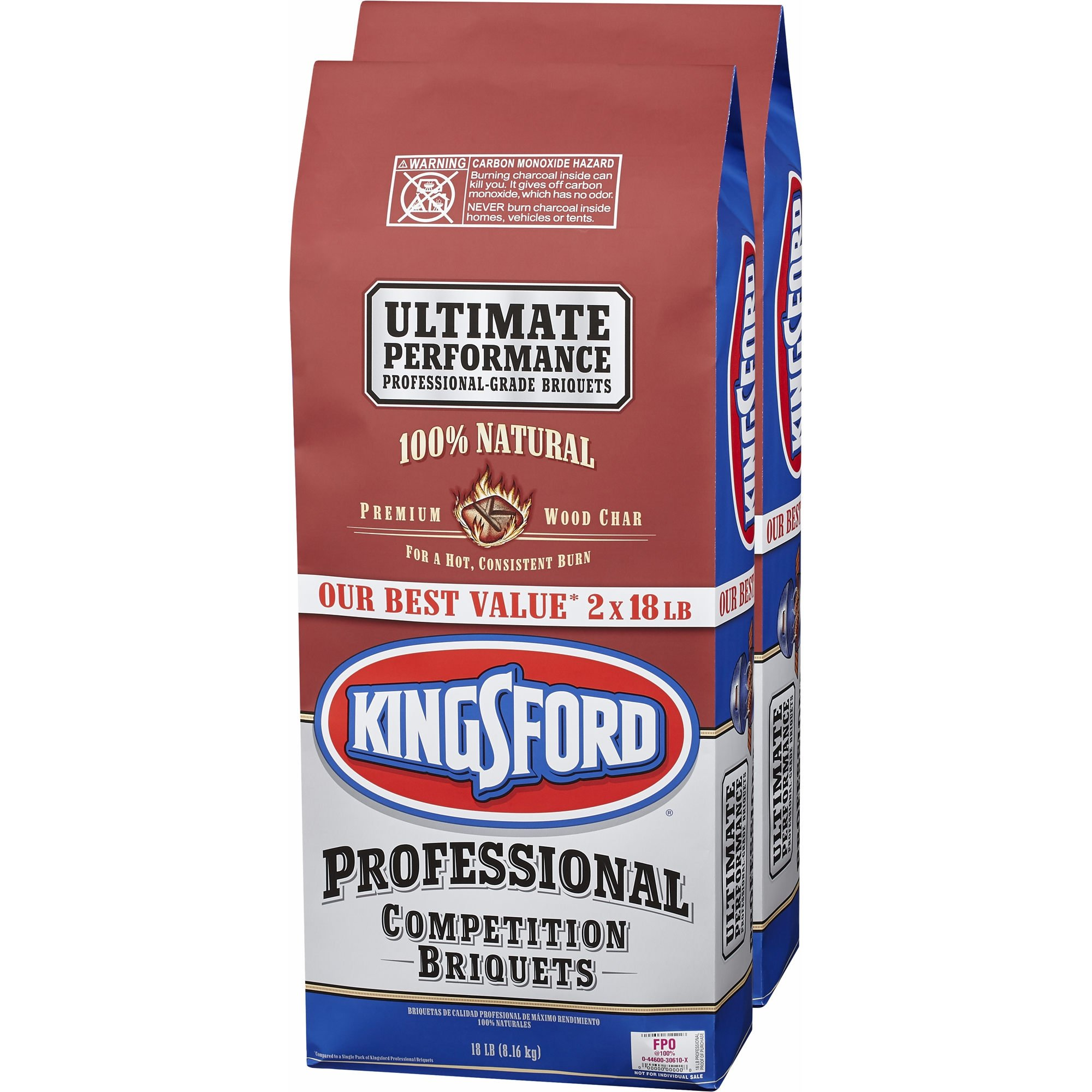 Kingsford Professional Competition Briquettes 2 Pack of 18 lb Bags by Kingsford