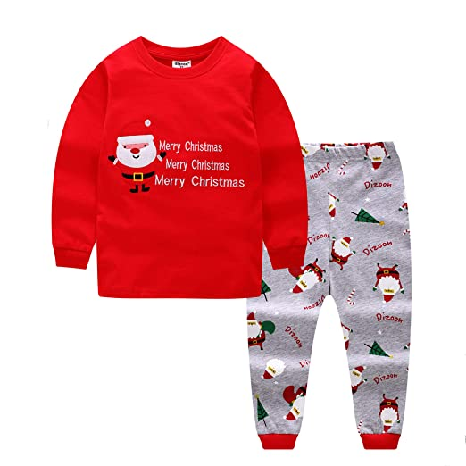 0b64bf150b Image Unavailable. Image not available for. Color  Baby House Christmas  Santa Toddler Kid Boys Girls Christmas Pjs Long Sleeve Pajamas Sets ...