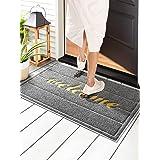 """Wohous Front Door Mat Indoor Outdoor Welcome Mat for Entrance 35"""" x 23.5"""", Low Profile Floor Mat Home Door mats Rubber Doorma"""