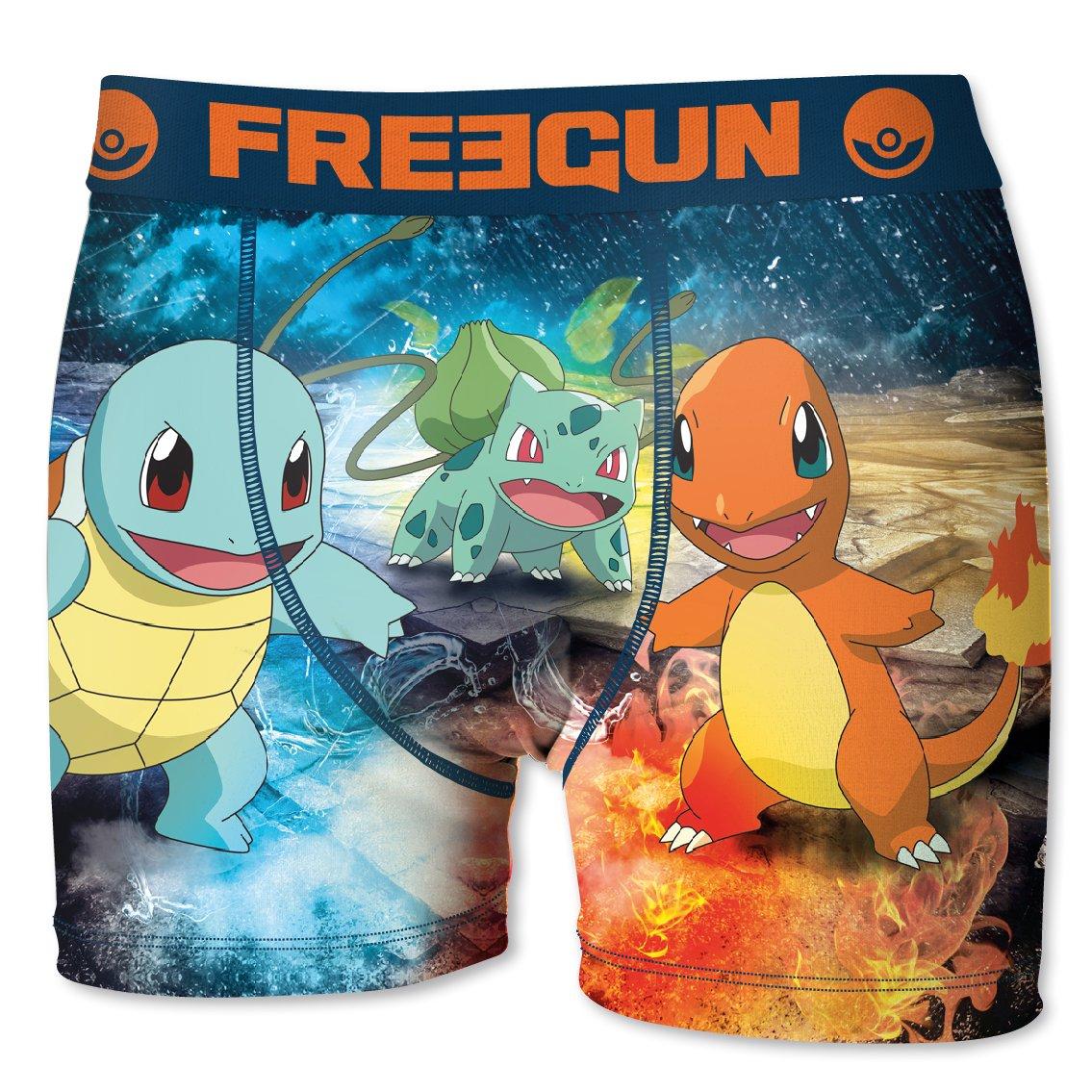 Freegun Boxershort Herren Pokemon blau) SVC