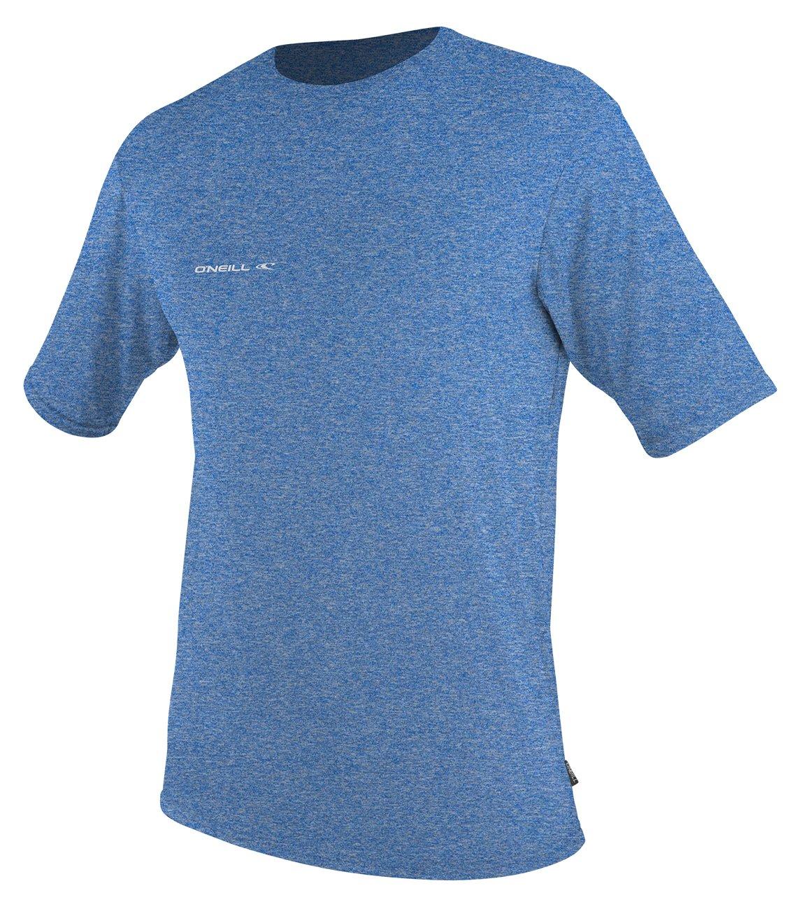O'Neill Men's UV Sun Protection Hybrid Rash Tee, XX-Large, Brite Blue Hybrid