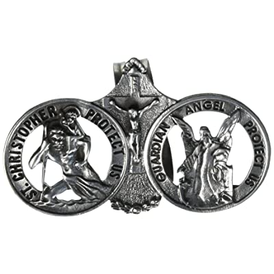 Cathedral Art Auto Visor Clip, St. Christopher/Guardian Angel: Arts, Crafts & Sewing