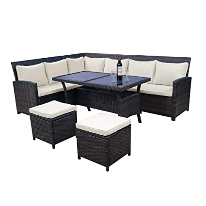 Waterproof Sofa Set Cover Garden Outdoor Patio 2-6 Seat Table Chair Bench Cover