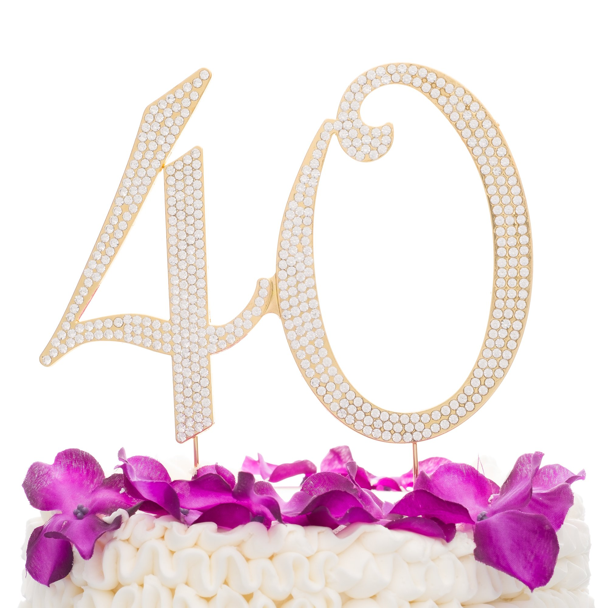 Ella Celebration 40 Cake Topper For 40th Birthday Party Or