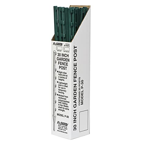 Charmant Fi Shock P 30G Green Garden Post For Fence (25 Pack),