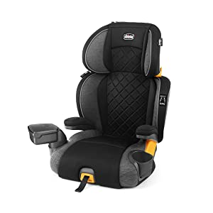 Chicco KidFit Zip Plus 2-in-1 Belt Positioning Booster Car Seat - Taurus, Black/Grey