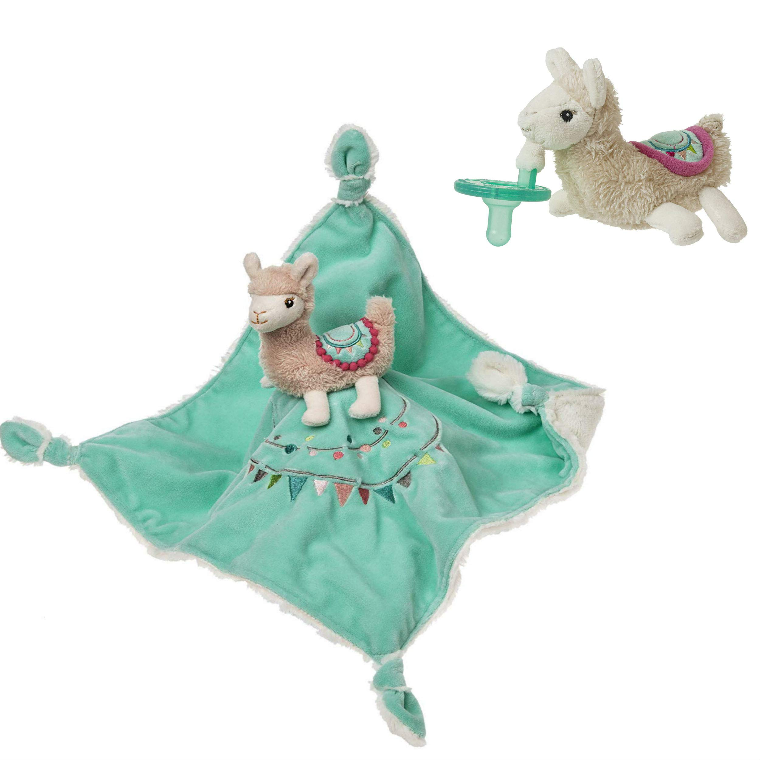 Mary Meyer Lily Llama Character Blanket and Wubbanub Pacifier Bundle (2 Items) by Mary Meyer
