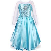 ReliBeauty Petites Filles Princesse Elsa Manches Longues Robe Costume