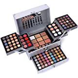132 Color All In One Makeup Gift Set Kit- Includes 94 Eyeshadow, 12 Lip Gloss, 12 Concealer, 5 Eyebrow powder, 3 Face Powder,