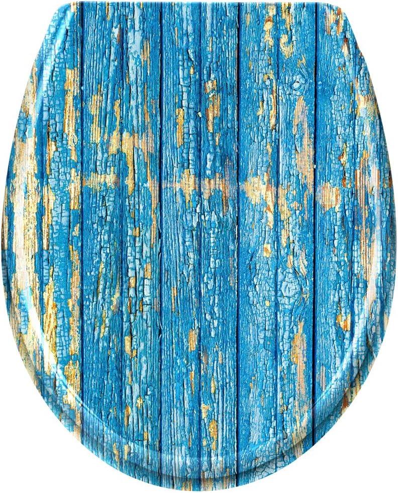 Anemonenfisch Froadp Oval Toilettendeckel Universal WC-Sitz mit Softclose Abnehmbar Hartplastik Antibakteriell Klobrille Stabile Einfache Montage 25 Muster Optional
