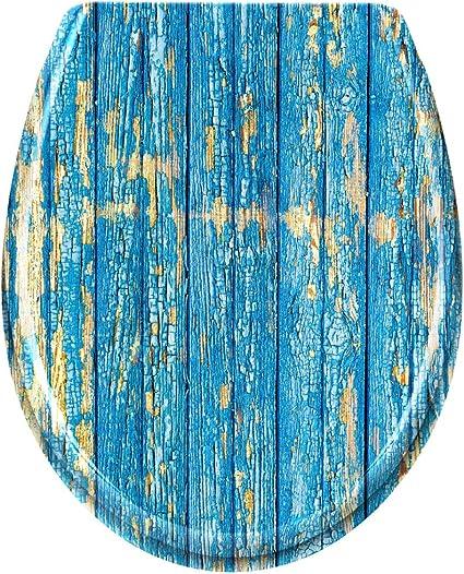 asiento de inodoro con varios motivos valla tapa termoestable BMOT Asiento de inodoro Tapa de inodoro premium con bajada autom/ática