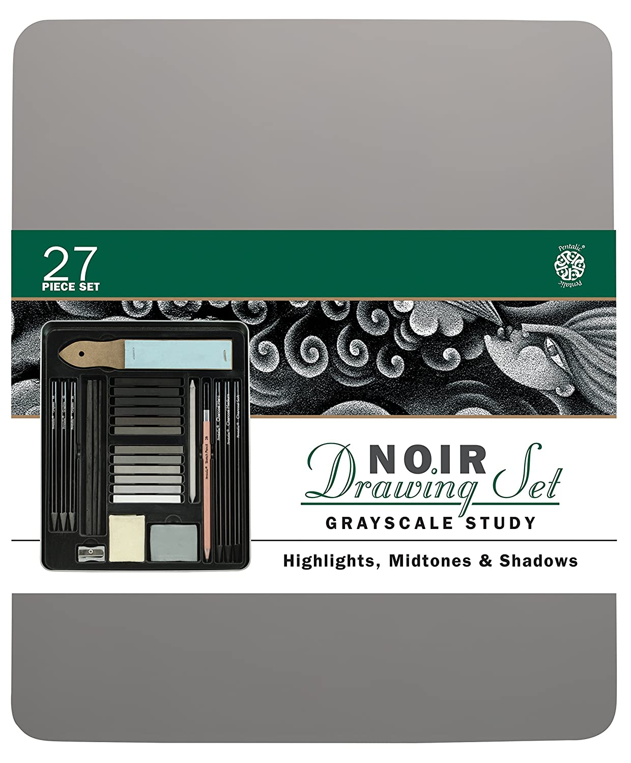 Pentalic Charcoal Drawing Noir Set PTL-896027