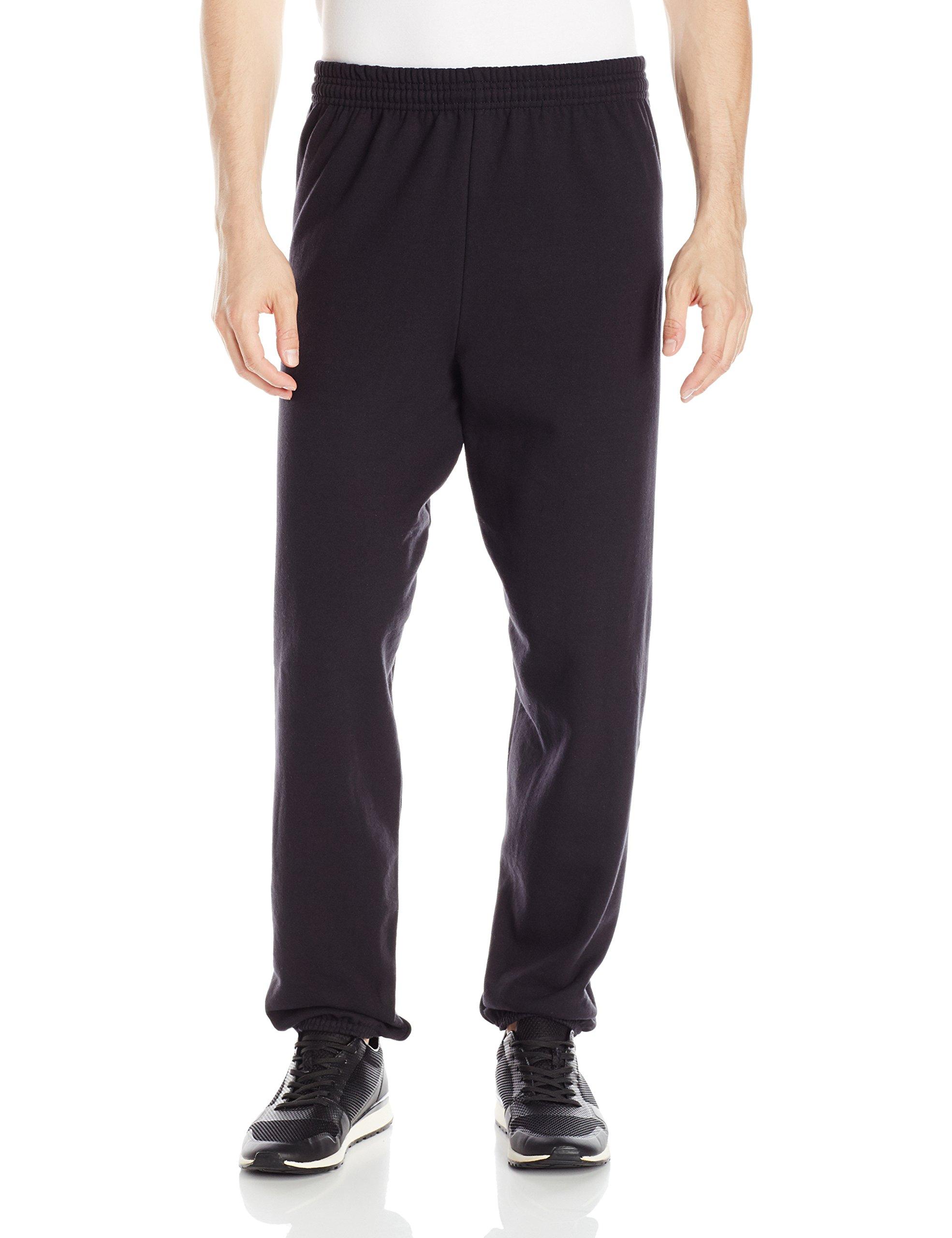 Hanes Men's EcoSmart Fleece Sweatpant, Black, L