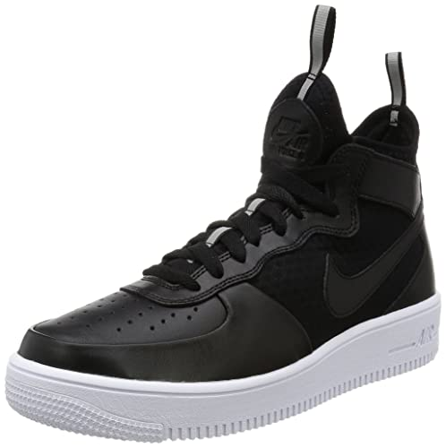 Zapatillas Nike - Air Force 1 Ultraforce Mid Negro/Negro/Blanco Talla: 43: Amazon.es: Zapatos y complementos