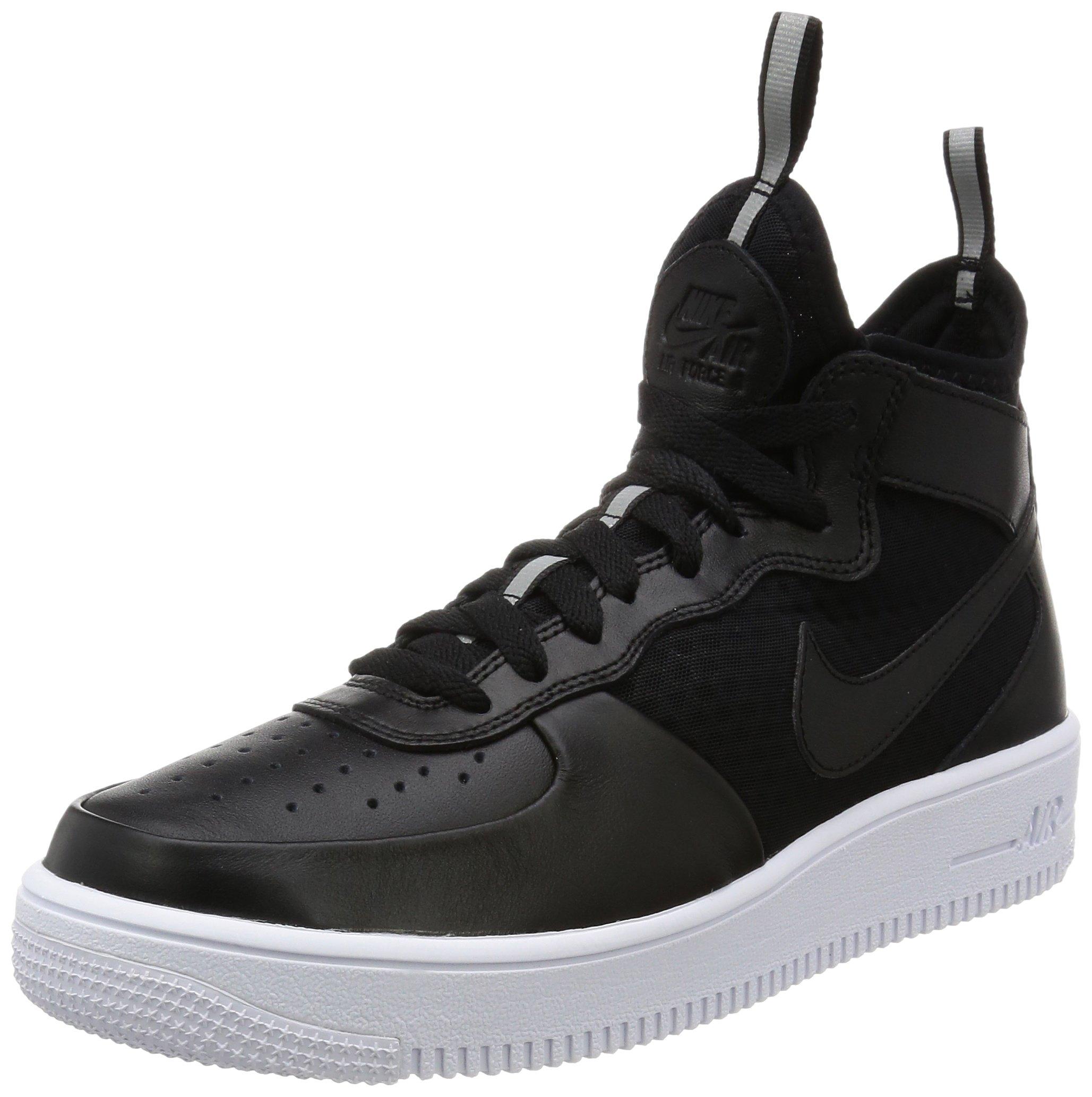 quality design 85d4c ef00c Galleon - Nike Mens Air Force 1 Ultraforce Mid Shoes Track  Black Black White 864014-001 Size 10