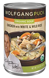 Wolfgang Puck Organic Chicken with White & Wild Rice Soup, 14.5-Ounce Cans (Pack of 12)