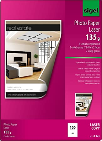 Amazon.com: Sigel LP141 doble cara papel fotográfico para ...