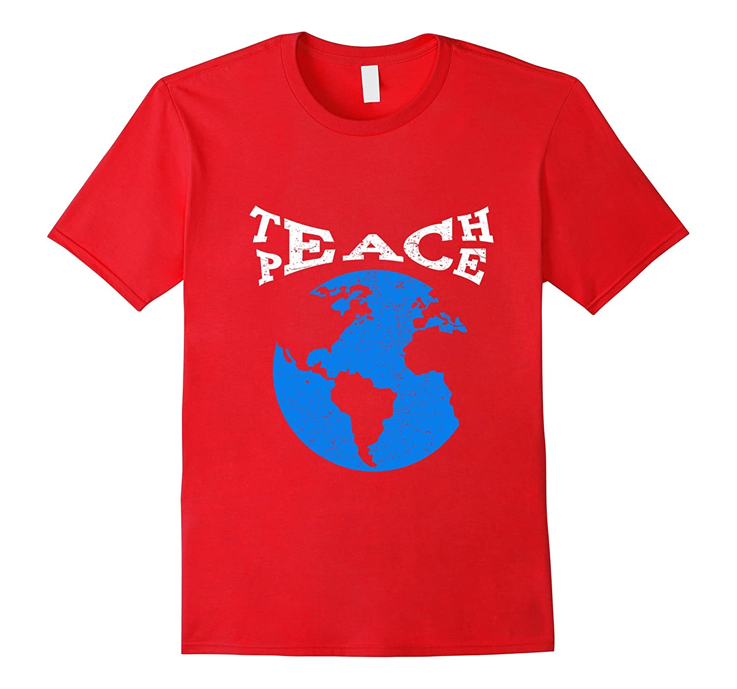 Teach Peace Not War T-Shirt Distressed-CD