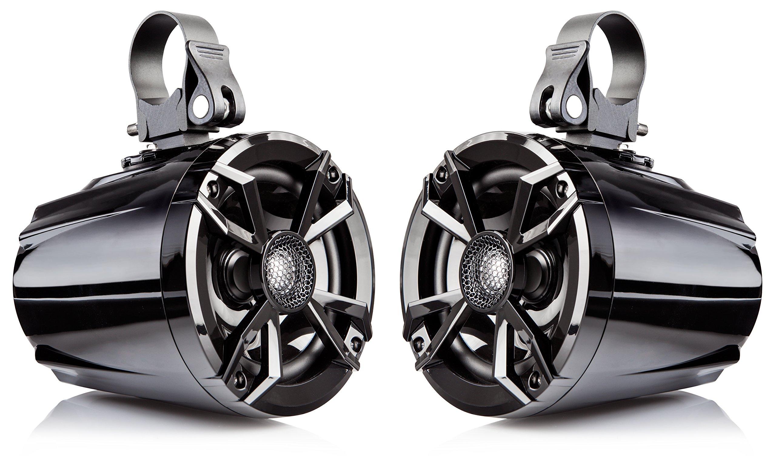 NOAM N5 - Pair of 5.25'' UTV/Golf Cart Marine Speakers with Passive Radiator