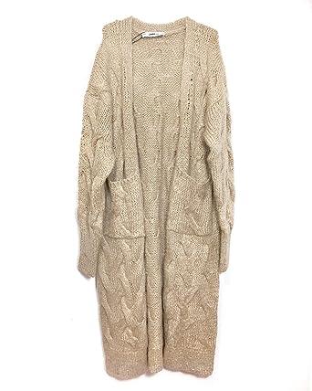 1edffcc043c4 Zara Women Cable Knit Cardigan 6771 114 (Large)  Amazon.com.au  Fashion