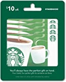 Starbucks Gift Cards, Multipack of 4