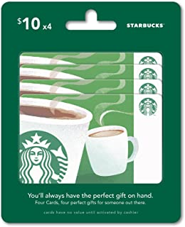 Amazon.com: Starbucks Gift Cards, Multipack of 5 - $20: Gift Cards