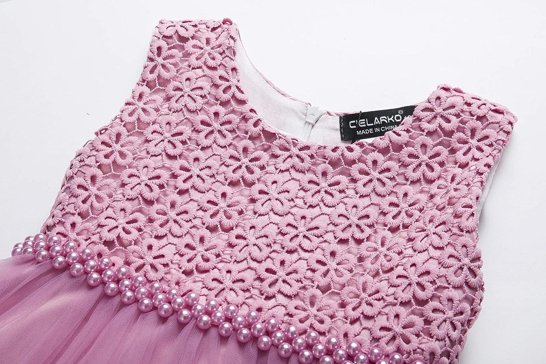 CIELARKO Baby Girl Dress Infant Flower Lace Wedding Party Dresses for 0-24 Months /…