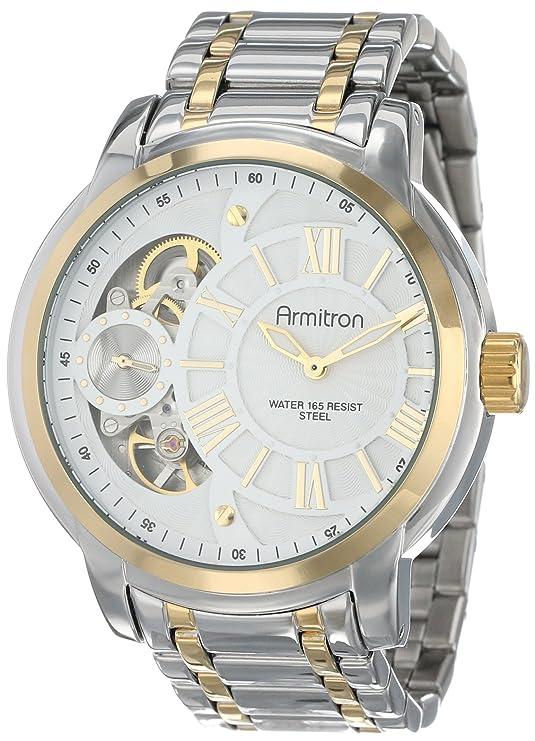 Amazon.com: Armitron Mens 20/4930WTTT Exposed Skeleton Dial Stainless Steel Two-Tone Bracelet Watch: Watches