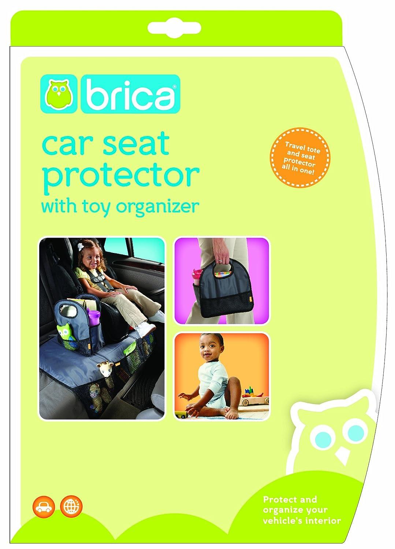 Amazon.com : Brica Back Seat Storage with Seat Protector, Gray ...