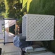 Wood Lattice Air Conditioner Screen (Natural) - - Amazon.com