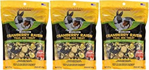 (3 Pack) SUNSEED COMPANY 36031 Cranberry Raisin Vita Prima Trail Treat for Rabbits and Guinea Pigs (5 oz. Per Pack)
