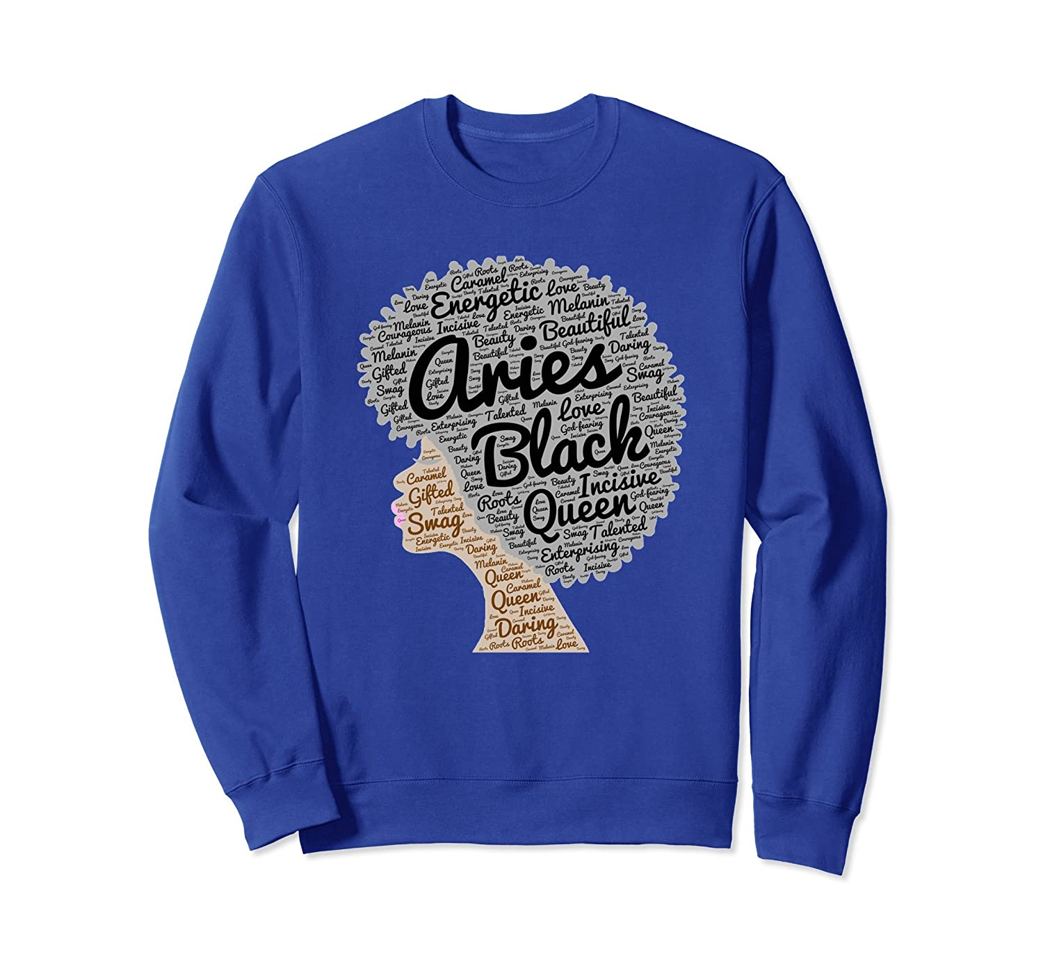 Aries Zodiac Birthday Gift Sweatshirt for Black Women-ah my shirt one gift